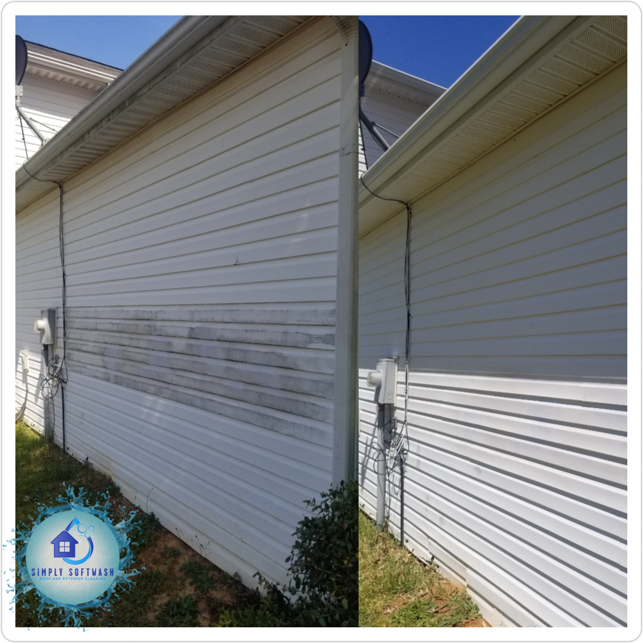 Our residential soft wash house washing service provides homeowners in Lancaster, SC, and the surrounding areas with professional soft washing solutions that won't break the bank. The team here at Simply Softwash Roof and Exterior Cleaning will use a safe and eco-friendly soft washing formula to clean the exteriors of your home, including walls, siding, and more.